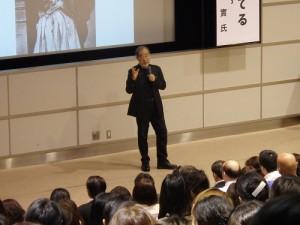命の大切さを語る、講師 鎌田 實さん