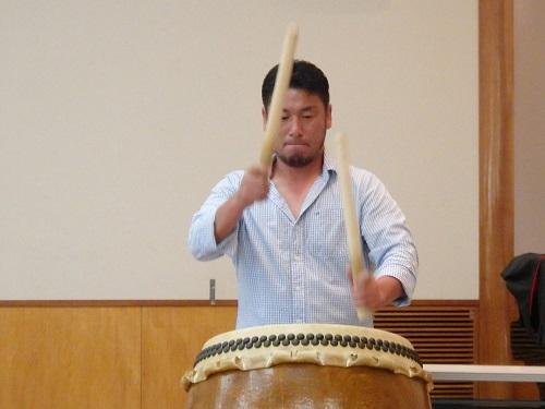 講演後、倭太鼓演奏のサプライズ!